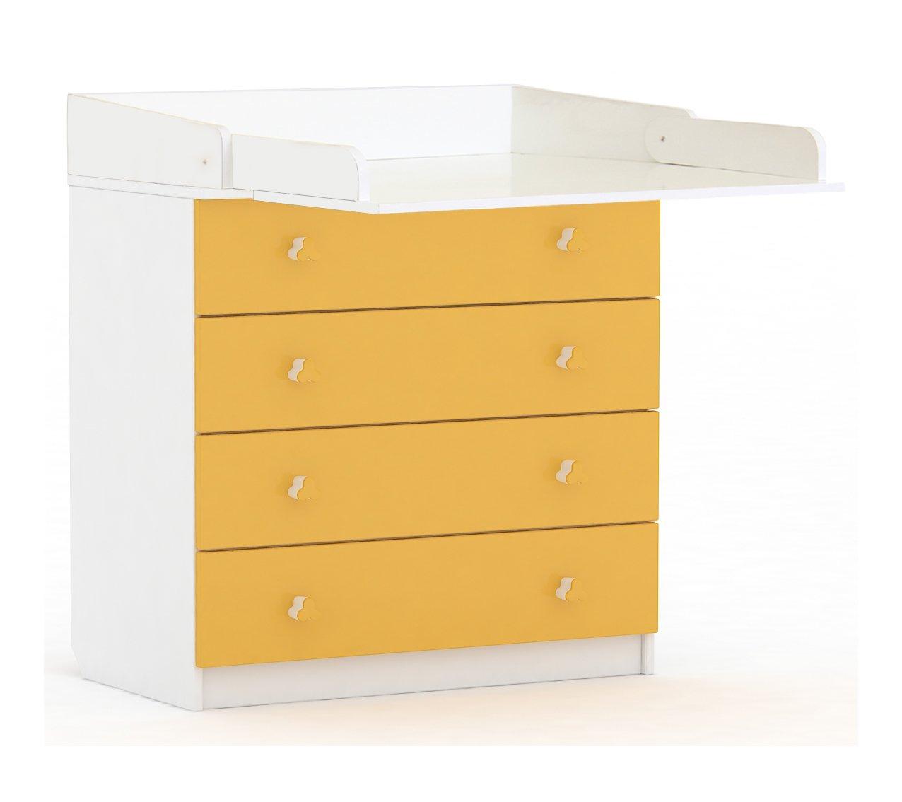 POLINI–Simple unidad de cajón con cambio de junta, blanco/amarillo HESS Polini Kids_0001288.18