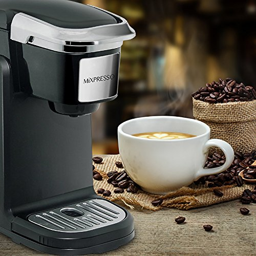 Mixpresso - Single Serve Coffee Maker | Compatible with K-Cups | Quick Brew Technology with Auto Shut-Off | One Touch Function | Programmable Features | Available in Dark Grey & Black Color by Mixpresso (Image #5)