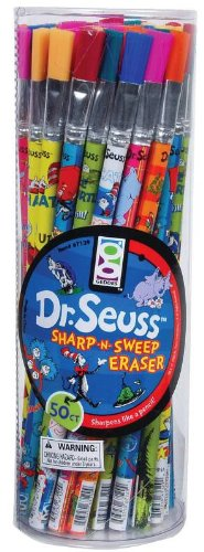 Raymond Geddes Dr. Seuss, Sharp'N Sweep Erasers, 50 per tub, Assorted (67129)