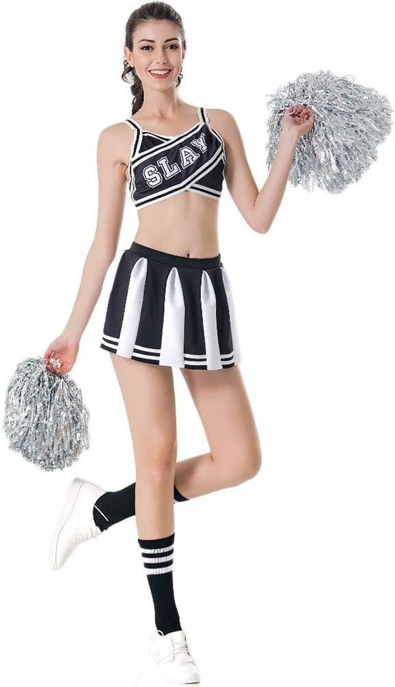 """Cheerleader-Kost/üm Kost/üm aus /""""High School Musical/"""" mit Pompoms in 6/Farben und/5/Gr/ö/ßen"""