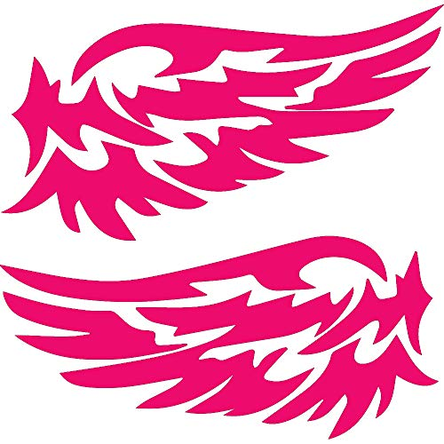 NBFU DECALS Guardian Angel Wings Lovely Reflective (Pink) (Set of 2) Premium Waterproof Vinyl Decal Stickers for Laptop Phone Accessory Helmet CAR Window Bumper Mug Tuber Cup Door Wall Decoration ()