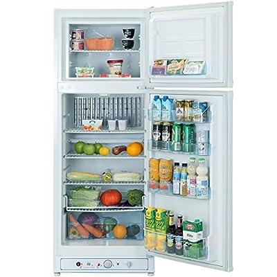 SMETA 110V Electric/Gas Refrigerator Home Upright Propane Absorption Fridge Freezer,9.3 cu ft