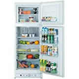Smad RV Refrigerator 110V &Propane Fridge Up Freezer, 9.3 Cu Ft, White