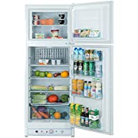 Smad Gas Refrigerator Freezer 110V/Propane Fridge Up Freezer, 9.3 Cu.Ft. , White