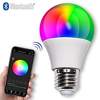 Ra Development Bluetooth Smart LED Light Bulb 2nd Generation - 4.5W E26 45W equivalent - Hue Remote Dimmable Multicolored No Hub RGBW Smartphone-Controlled - iPhone, iPad, Android