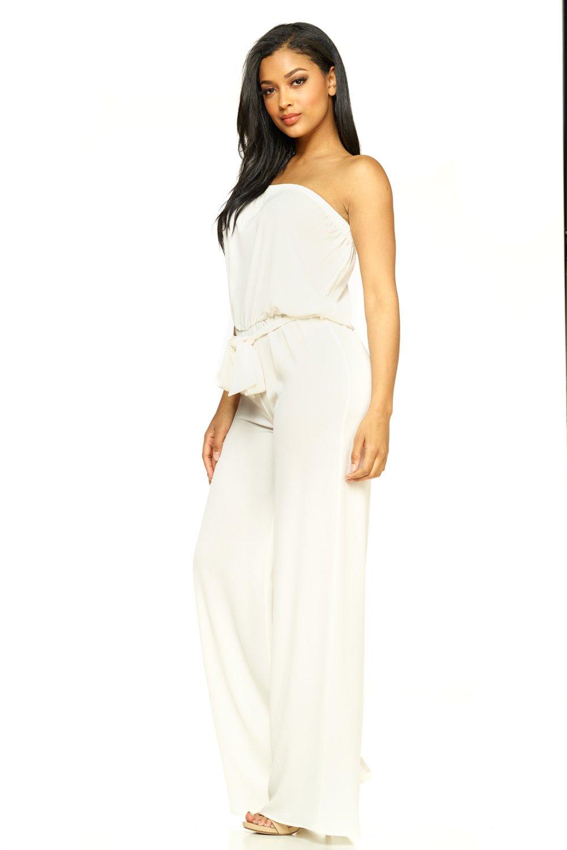 Cemi Ceri Women's J2 Love Strapeless Tube Jumpsuit, Large, White by Cemi Ceri (Image #2)