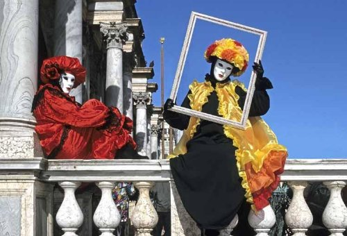 Wallmonkeys Venice Carnival Peel and Stick Wall Decals WM279273 (60 in W x 41 in (Venice Carnival Costumes History)