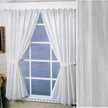 Carnation Home Fashions Vinyl Bathroom Window Curtain Super Clear