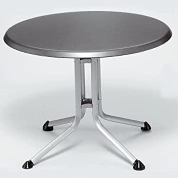 Kettler Table ronde pliante en aluminium 85 cm Blanc: Amazon ...