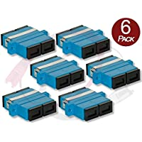 6 Pk Duplex SC to SC Female to Female Couplers | Single-mode Multimode SC Female to SC Female Couplers | FiberCablesDirect | f/f sc/sc female/female adapter sm mm coupler 6 pack