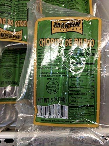 Martin Pure Foods Chorizo de Bilbao 5 Oz (6 Pack)