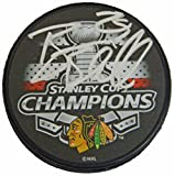 Bryan Bickell Signed Chicago Blackhawks 2015 Stanley Cup Champs Logo Hockey Puck