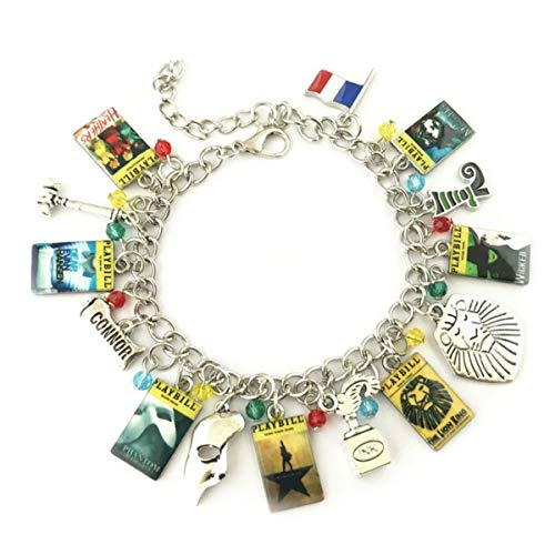 Athena Brand Broadway Musicals Charm Bracelet Quality Cosplay Jewelry Broadway Musical Series with Gift Box (Best Broadway Musicals For Families)