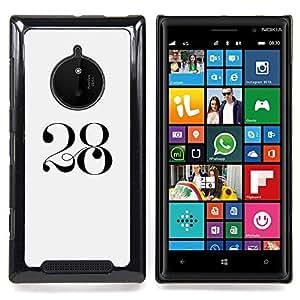 Stuss Case / Funda Carcasa protectora - 2 8 Negro blanco del arte mítico - Nokia Lumia 830
