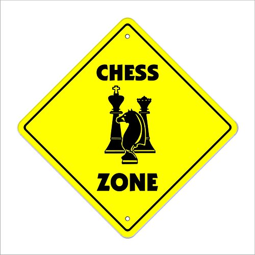 (Cortan360 Chess Crossing Sign Zone Xing game board game player lover timer set pieces Sticker Decal)