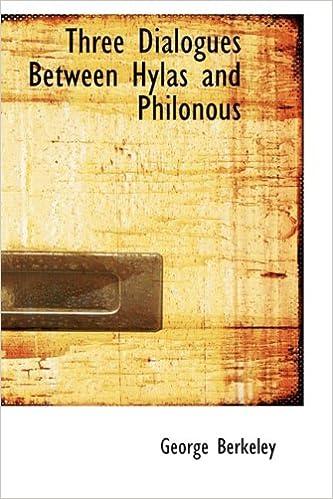 berkeley three dialogues between hylas and philonous