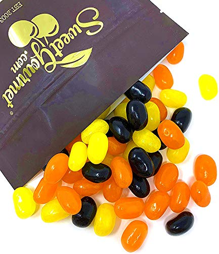 SweetGourmet Candy Fall Halloween Jelly Beans - Orange, Yellow, Black 2 pounds