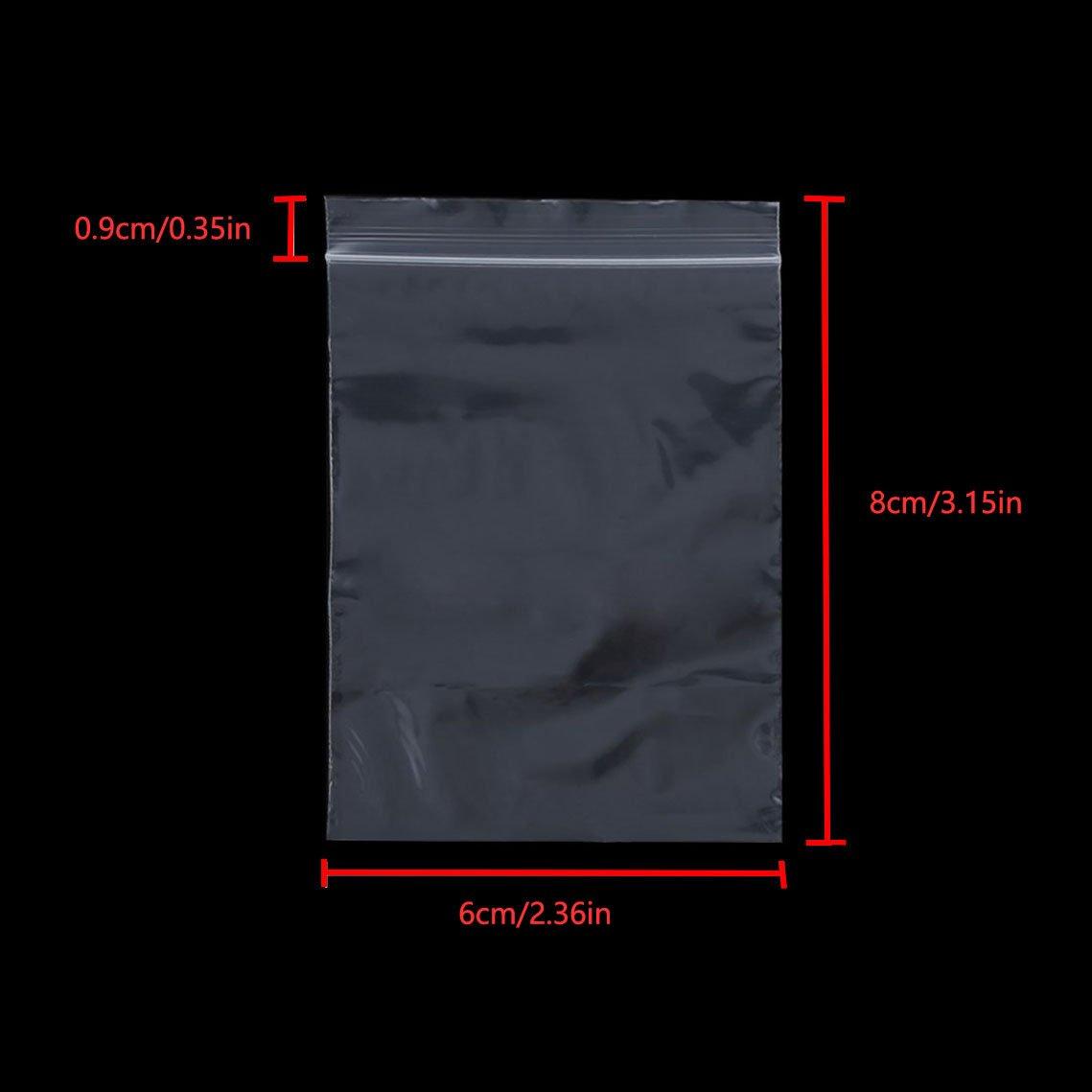 Ispessimento e Durevole premere per chiudere Borsa con Chiusura a Cerniera Riutilizzabile Sacchetti in plastica Trasparente risigillabili 6x8cm240PZ