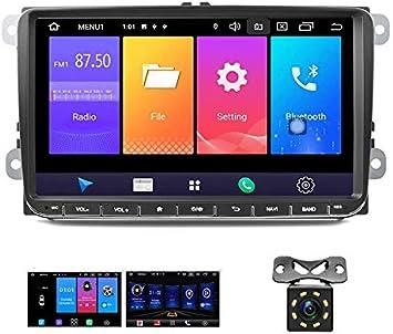 Android 9.0 Car Radio GPS para VW Camecho 9 Pulgadas Soporte de Pantalla táctil SIM Mirror Link Bluetooth FM Am RDS Radio para VW Passat Golf Jetta T5 ...