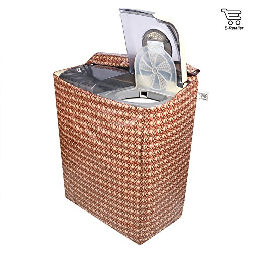 E-Retailer™ Brown Wooden Texture Design Semi-Automatic Washing Machine Cover Upto 7.5 Kg Capacity 51C0zfDXNcL India 2021