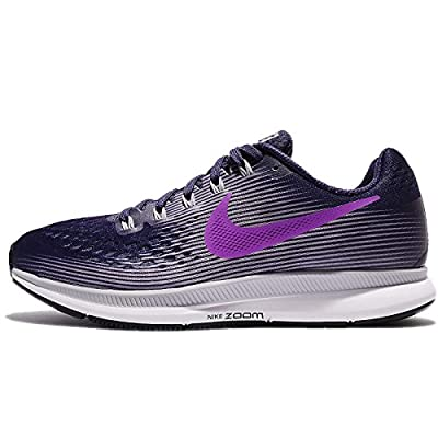 Nike Women's Air Zoom Pegasus 34 Running Shoes-Ink/Hyper Violet-5