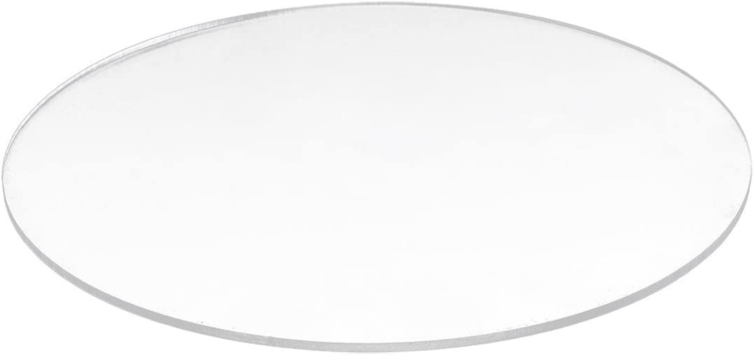 Transparent 3mm thick Mirror Acrylic round Disc Di/¨/¢metro:200mm Acrylic round Disc R SODIAL