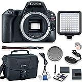 Canon EOS Rebel SL2 Body Only DSLR Camera Kit + Canon Camera Bag + Video Pro LED Light + Starter Kit