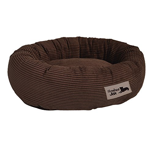 Dog Bed Luxury Donut (Slumber Jax 32 x 38 x 8-Inch Donut Dog Bed, Large, Corduroy Chocolate)