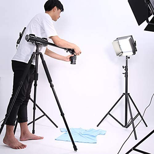 The 3//8 Screw Telescopic Vertical Tripod Cross Bar Arm with Aluminum for 4 Heads Head Professional Photography Studio Equipment