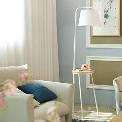 SXFYHXY Lámpara de pie LED Moderno sofá Vertical Mesa de ...