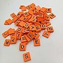 matoen 100pc /設定木製ScrabbleタイルブラックLetters Numbers for Crafts木製Alphabetsゲーム free size 4327941882の商品画像