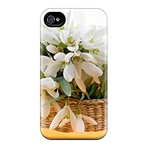 Cute Tpu Jamesmeggest Flowers Case Cover For Iphone 4/4s