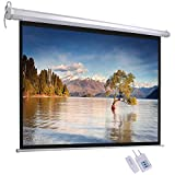 ReaseJoy 84' Diagonal 4:3 Matte White Electric Motorized Projector Screen with Remote Control 170.7x128cm
