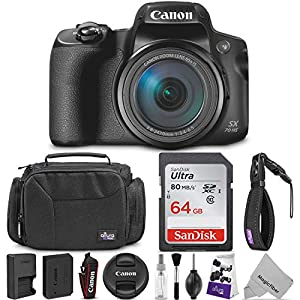 Canon PowerShot SX70 HS Digital Camera w/Essential Photo Travel Bundle