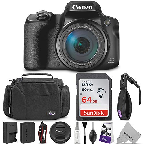 Canon PowerShot SX70 HS Digital Camera w/Essential Photo and Travel Bundle
