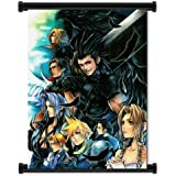 """Crisis Core Final Fantasy 7 Game Fabric Wall Scroll Poster (16""""x22"""") Inches"""
