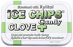 ICE CHIPS Candy Hand Crafted Tin Clove Plus Candy, 1.76 Ounce