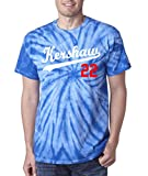 "Silo Shirts TIE DIE Blue Los Angeles ""Kershaw 22"" T-Shirt"