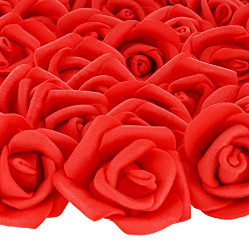 Used, Bright Creations 200-Pack Red Rose Flower Heads for for sale  Delivered anywhere in Canada
