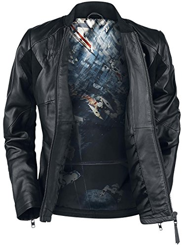 High Tie De Cuero Pilot L Wars Limited Quality Edition Negro Star Musterbrand Mujer Chaqueta w6vgYq