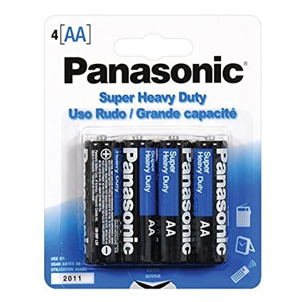Amazon.com: Panasonic Super Heavy Duty pilas AA, UM-3NPA/4B ...