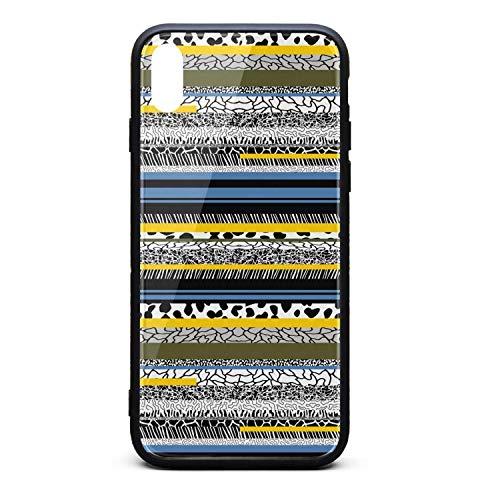 Stripe Collage i-Phone Xsmax Case Ultra-Thin Back Case Anti-Slip Soft for i-Phone Xs max