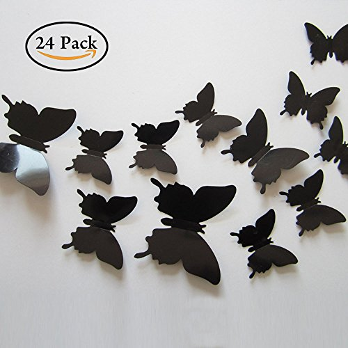 Best black butterfly wall decals