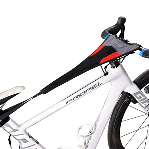 Cycleops Accessory - RockBros Bicycle Trainer Sweat Net Frame Guard Absorbs Sweat Black Red