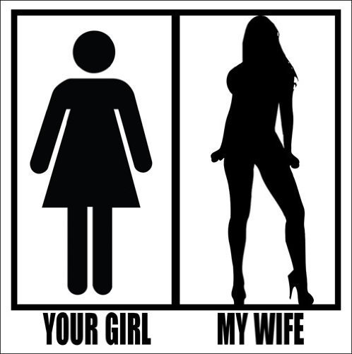 Sexy Girl Silhouette (Your Girl My Wife Sticker (sexy silhouette comparison))