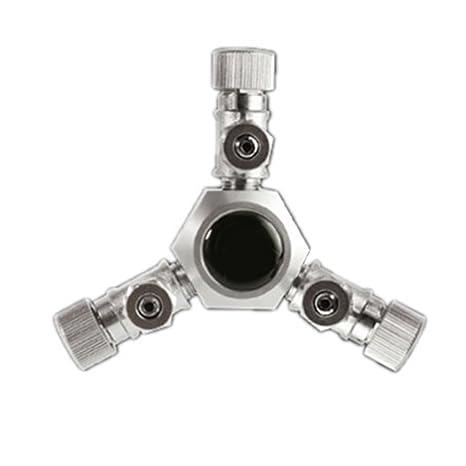 yunt CO2 Splitter latón con 3 o 6 Vías suave distribuidor Enemigo osierventil Válvula de aguja