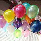 100pcs/pack Latex Balloons 10 Inch 0.063OZ Thickening Pearl Balloons for Wedding Birthday Party Festival Christmas Decorations Color Assorted