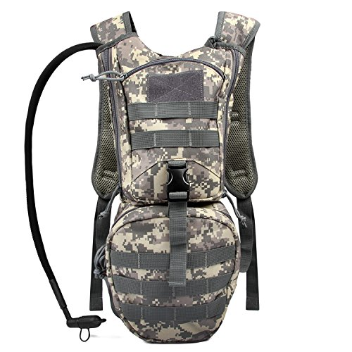 Tactical Hydration Pack Backpack 900D with 3L Water Bladder Reservoir for Men Women Hiking Cycling Running Climbing Hunting