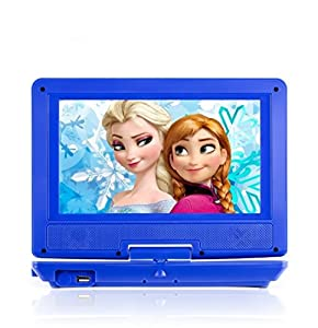 portable dvd player for car plane more 7 car travel accessories included 35 value 9 swivel screen whopping 6 hour battery life perfect