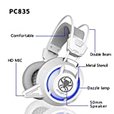 LESHP Gaming Headphones Headset For Video Game Over Ear Noise Isolating Vibration Game Headset With Microphone LED Light